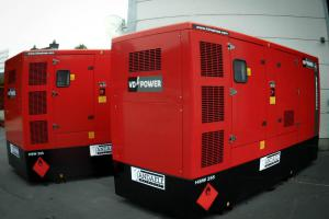 Synchronously working gensets