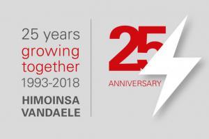 Logo 25 jaar HIMOINSA Vandaele